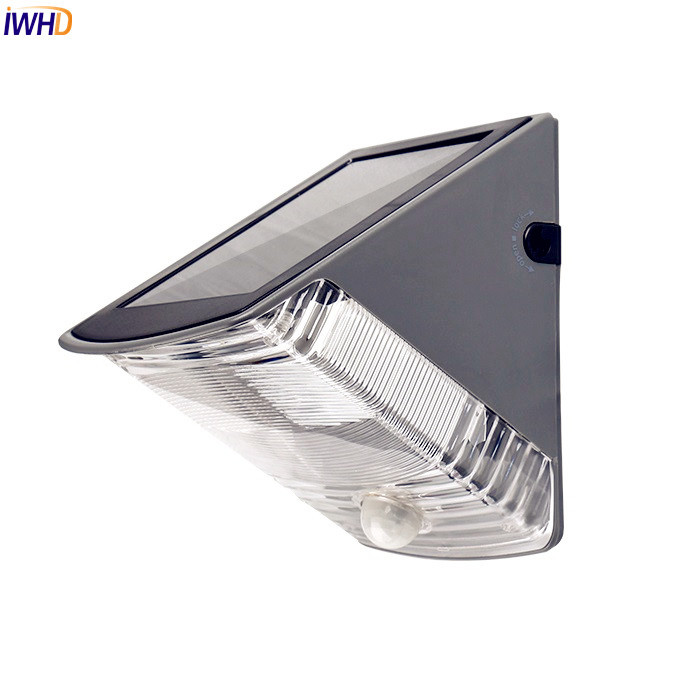 IWHD Outdoor Lighting LED Solar Lamp Light Waterproof Infrared Sensor Motion Garden Light Wall Lamp Luminaire Aisle