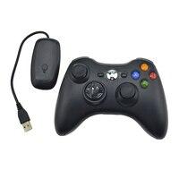 Xbox 2.4 게임 조이스틱 용 pc 무선 수신기 원격 제어 기능이있는 microsoft xbox 360 게임 패드 용 360g 무선 컨트롤러