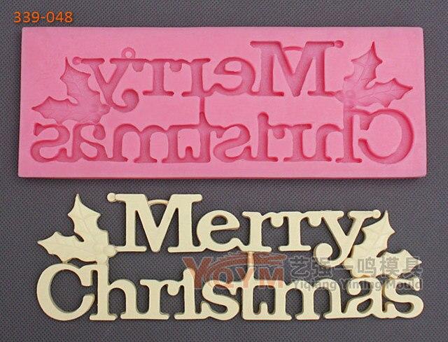Koreanisch Frohe Weihnachten.Us 7 6 2015 Yqym Neue Ankunft Freies Verschiffen Koreanische Frohe Weihnachten Silikon Backform Fondant Kuchen Werkzeuge Lebensmittelqualitat Form