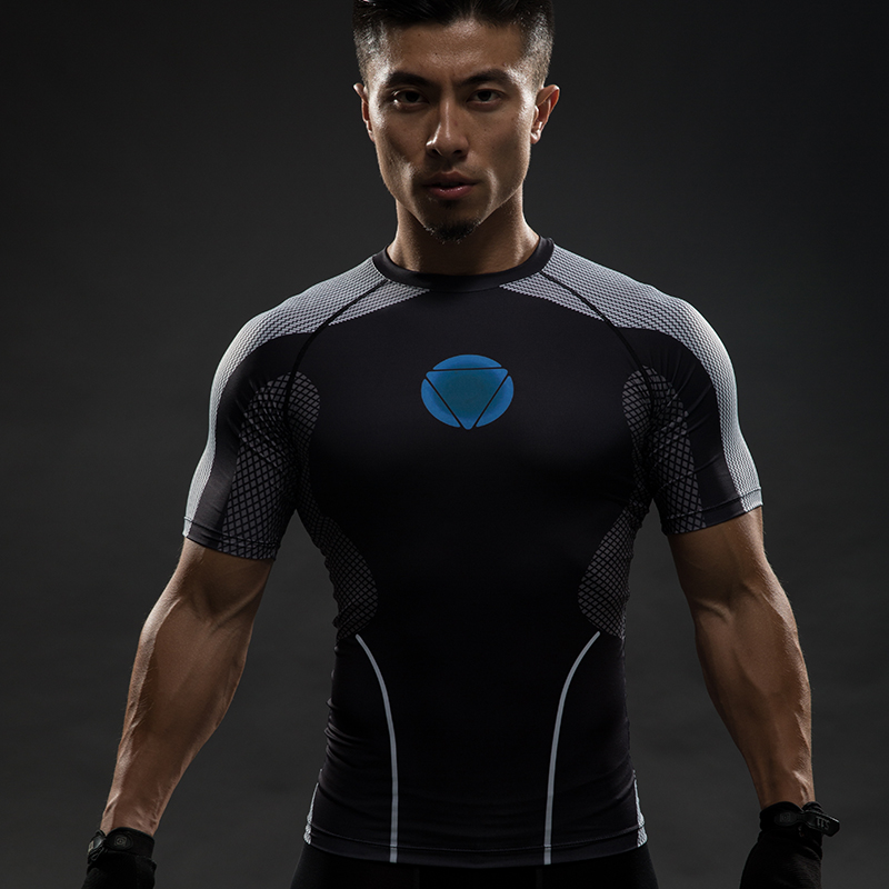 Buy compression shirt raglan sleeve 3d for Gym printed t shirts