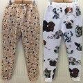 PLUS SIZE XL 4 CORES Kawaii Animal Cão Akita Inu Impresso Moda Casual Unisex Treino Calças, Inverno Sweatpants Hip Hop Pant