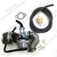 Мотоциклетный Карбюратор с топливным шлангом, воздушный масляный фильтр, впускной клапан для квадроцикла, внедорожника, карбюратора Go Kart, р...