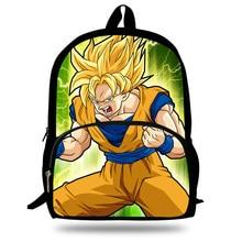16-inch Teenage Boy School Backpack Dragon Ball School Bags For Kids Super Saiyan Children Backpack Mochila Escolar Menino
