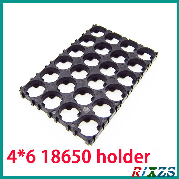 2pcs/alot 4*6 18650 Battery Holder Bracket Cylindrical Battery Holder 24pcs18650 Holder Safety Anti Vibration Plastic Case Box At All Costs