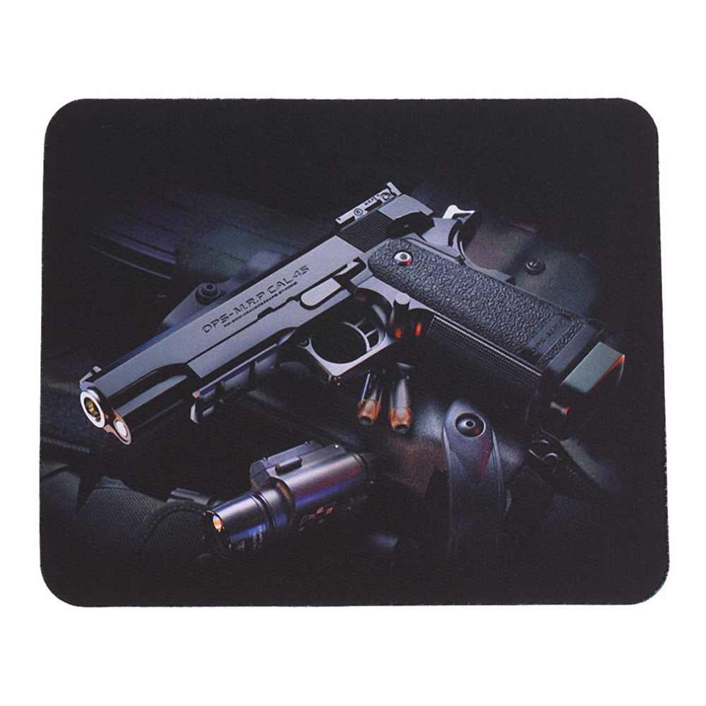 22*18cm Guns Picture Anti-Slip Laptop Computer PC Mice Gaming Mouse Pad Mat Mousepad For Optical Laser Mouse Wholesale