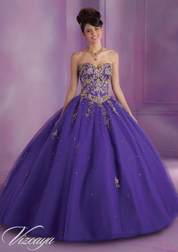 2017 Gold Quinceanera Dresses Sweeetheart Gold Embroidery Beadings ...