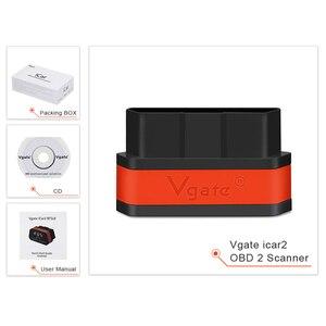 Image 5 - Vgate iCar2 ELM327 Adaptador de diagnóstico OBD OBD2 para coche, herramienta automática de escáner Android, Bluetooth, Elm 327, 10 Uds., envío gratis