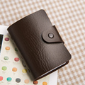 new fashion 24 card id holder Hasp women&men card bags name ID Business Card Holder porte carte bancaire credit card case holder