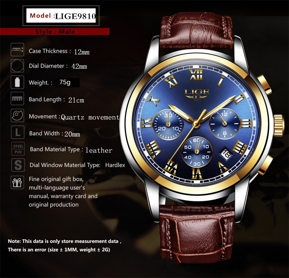 HTB1nw9be.GF3KVjSZFoq6zmpFXaH LIGE Men Watches Top Luxury Brand Full Steel Waterproof Sport Quartz Watch Men Fashion Date Clock Chronograph Relogio Masculino