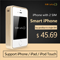 Смарт-Dual Sim двойной Резервный Bluetooth Адаптер MoreCard Lefant Горячее Надувательство Смарт-Адаптер для iPhone/iPad/iTouch/iPhone 6/iPad air
