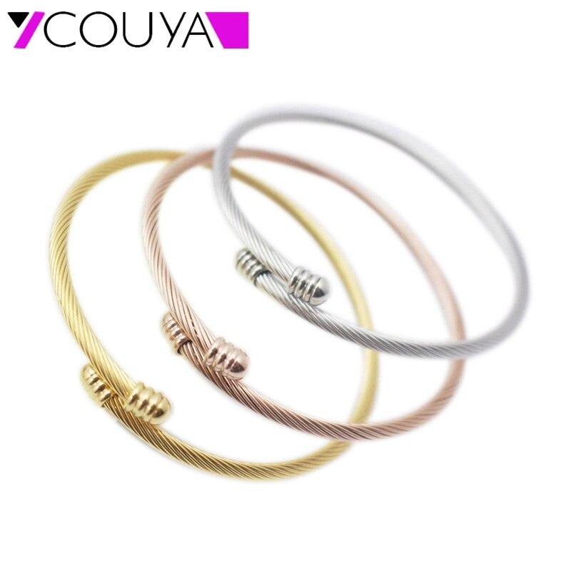 №3 colores cable pulseras moda Amuletos infinito ajustable cable ...