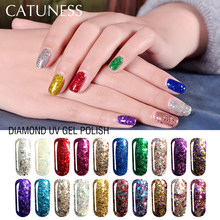 CATUNESS 3D Diamond Glitter UV Nail Polish Poly Gel Varnish Good Quality Soak Off Semi Permanent Gels for Nail Extensions(China)