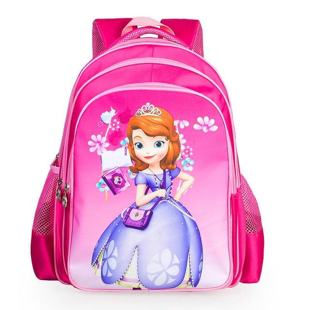 New Cute Girl Schoolbag Cartoon Sofia Children School Bags For Girls Baby  School Backpacks Child Kids 940499b146487