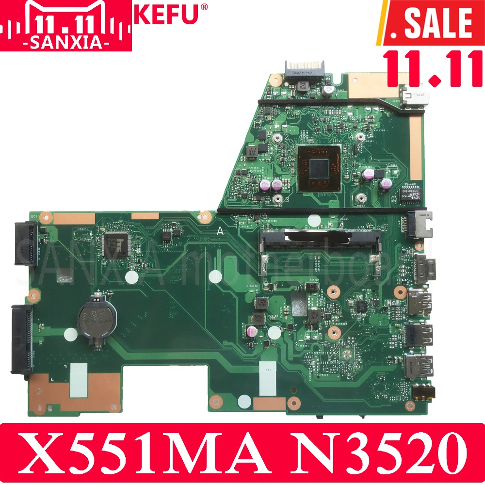 KEFU X551MA Laptop motherboard for ASUS X551MA X551M X551 F551MA D550M Test original mainboard N3520 4-Core CPU 4cores n2930 1 833ghz cpu x551ma motherboard for asus f551ma x551ma d550m laptop motherboard x551ma mainboard x551ma motherboard
