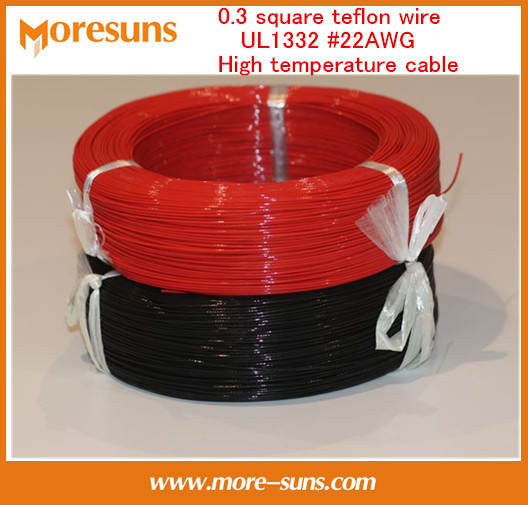 Free Ship By EMS/DHL 0.3 Square Wire UL1332 #22AWG High Temperature Cable 200 Degrees 305m High Temperature Wire
