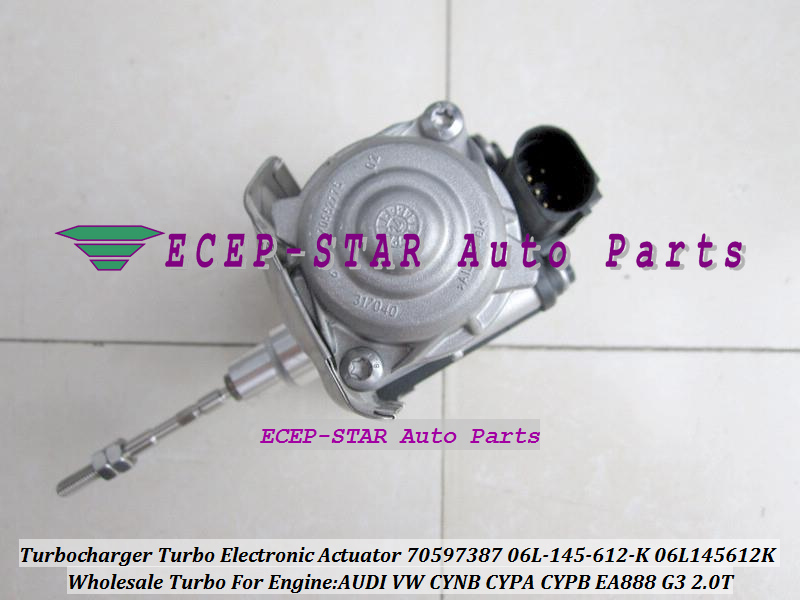 Turbo Actionneur Électronique 70597387 06L-145-612-K 06L145612K Pour AUDI Pour VW CYNB CYPA CYPB EA888 G3 2.0 t 2.0L Turbocompresseur