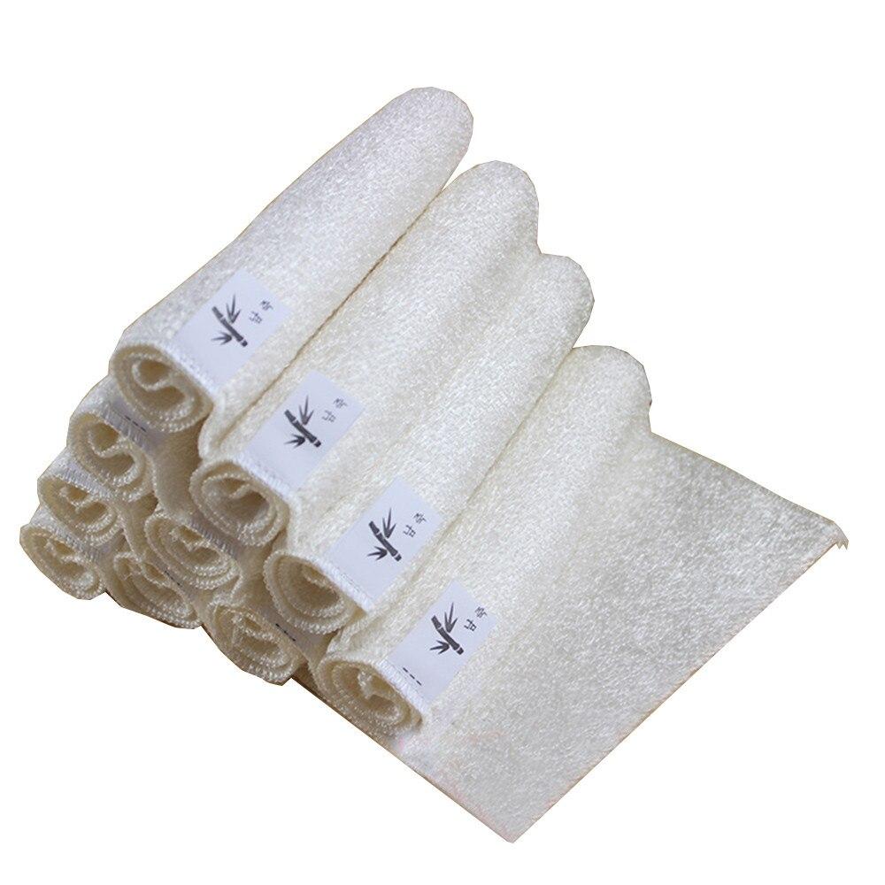 High Efficient Anti grease Dish Cloth Bamboo Fiber Washing Towel ...
