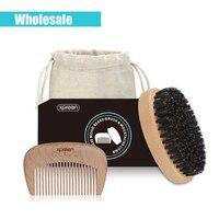 (Toptan) Küçük Boyutu XPREEN Tarak Hairbrush Saf El Yapımı Sakal Saç Kıl Saç Fırçası için Gerçek Ahşap Tarak Fırça Kiti bıyık