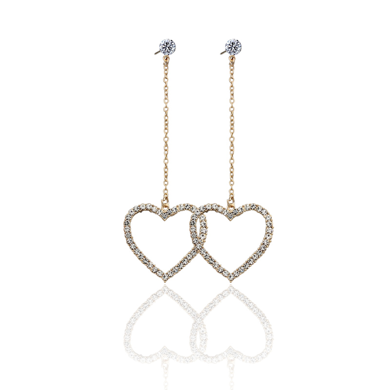 punk hip hop hyperbole hollow out heart stars dangle earrings for women girls gifts jewelry high quality fce014-5