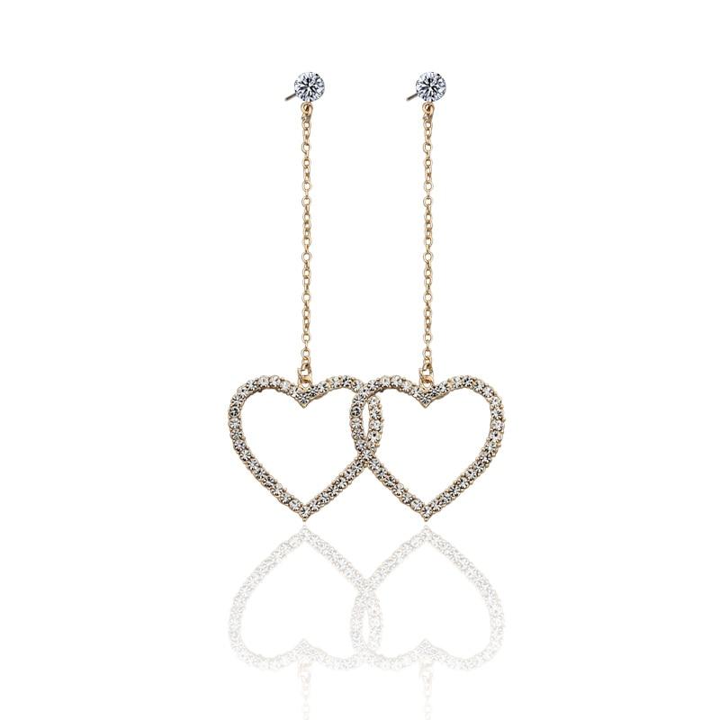 punk hip hop hyperbole hollow out heart stars dangle earrings for women girls gifts jewelry high quality fce014-5