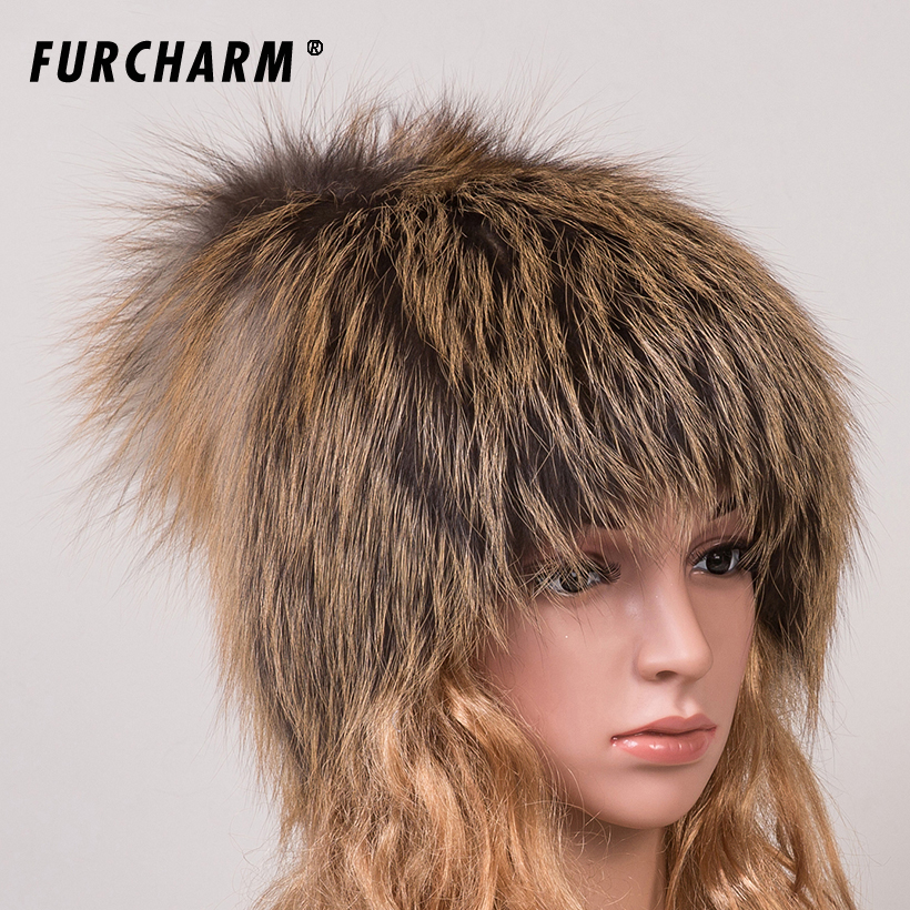 Women Fur Hat for Winter Genuine Fox Fur Skullies with Pom Poms Top Beanies 2016 New Elastic Fur Cape Brand Warm Knitted Hats skullies