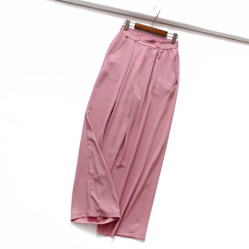 Women's clothing chiffon high waist female   Wide     leg     pants   spring autumn mopping loose   wide     leg     pants   loose straight   pants