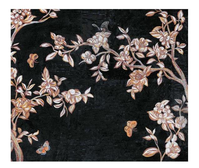 volledig met de hand gemaakt glasmozaïek kunstwerk muurschildering - Huisdecoratie - Foto 1