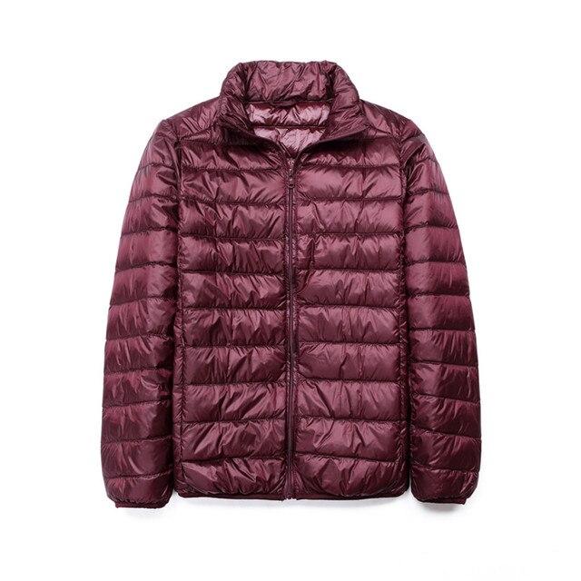 Новая зимняя куртка-пуховик 90 Белое пуховое пальто Сверхлегкий пуховик мужской ветрозащитный Теплая парка Стенд воротник вниз куртка Slim