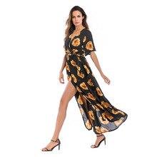 af81141c9 vestidos largos de verano ropa mujer talla grande vestido de gasa estampado  floral vestido escote v