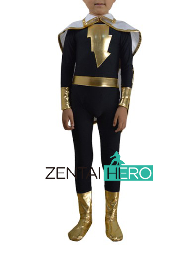 Free Shipping DHL NEW Children's Halloween Costume Black Marvel Flash Costume Cosplay Kids Superhero Costume With Cape XWHK02