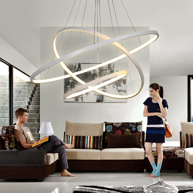Modern LED Chandelier Lights For Living Dining Room Cristal Lustre ...