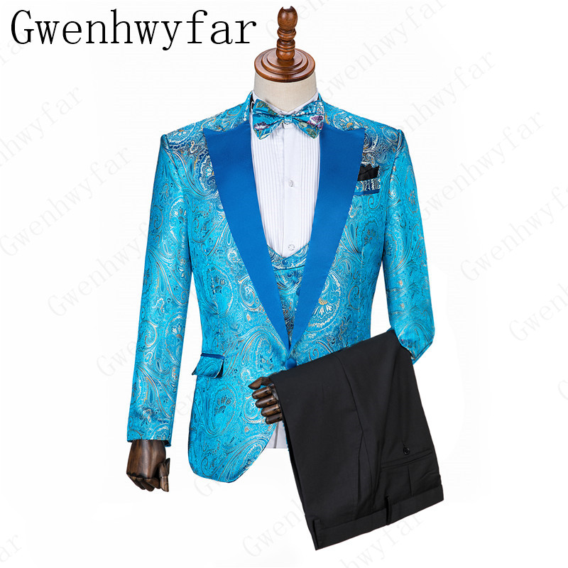 Blue Pattern Check Men Suit Tailored Suits For Men Mens Checkered Suit Gingham Tuxedo Elegant Solid Color Business Casual Suit