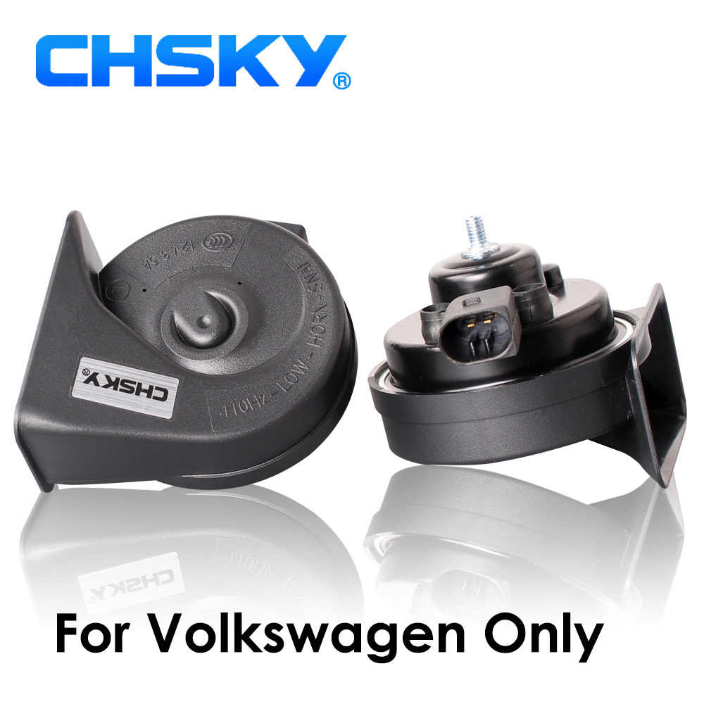 CHSKY Special For VW Horn 12V Loudness 110-129db Loud Car Horn For VW Passat Golf Polo Jetta Claxon Auto Snail Horn Car Styling
