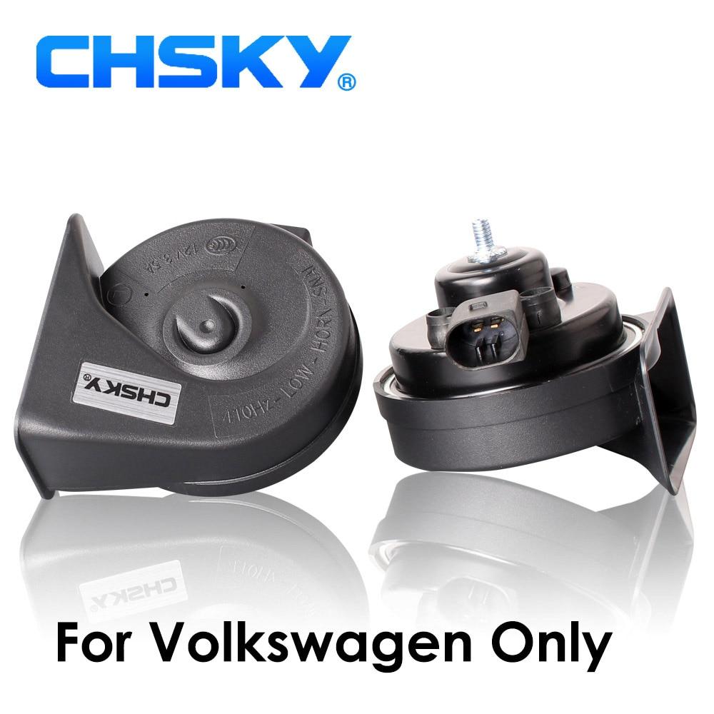 Chsky buzina automotiva, buzina especial para vw de 12v, alta potência, 110-129db, para vw passat golf polo jetta claxon chifre de caracol do carro