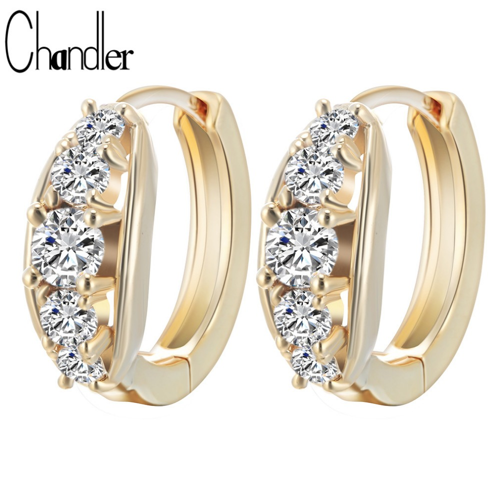 Simple OL Style AAA+Cubic Zirconia Hoop Earrings Silver Plated For Women Lady Casual Ear Accessaries Bridal Dubai Bijoux