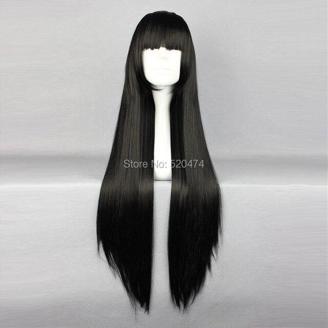MCOSER 80cm Long Shakugan no  Black Cosplay Costume Synthetic Hair Lolita Wig