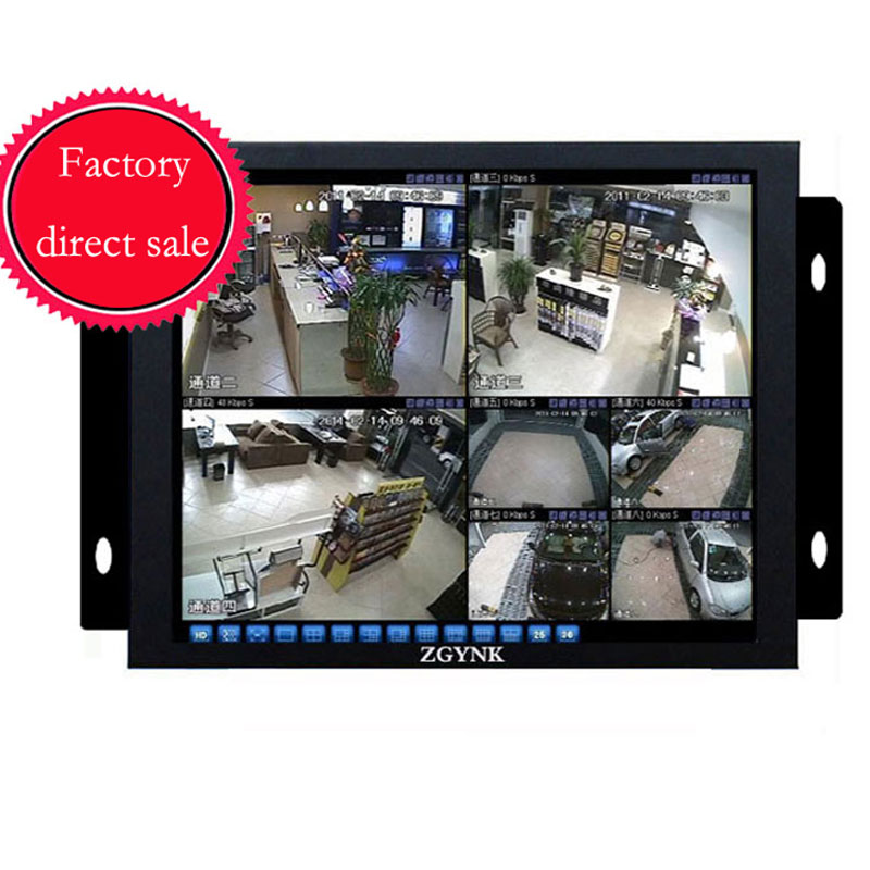 ZGYNK / 10.4 Open Frame Industrial monitor/ metal monitor with VGA /AV/BNC/HDMI monitor white 8 inch open frame industrial monitor metal monitor with vga av bnc hdmi monitor