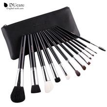 DUcare Professional Makeup Brush Set 12pcs High Quality Makeup Tools Kit With Travel Bag