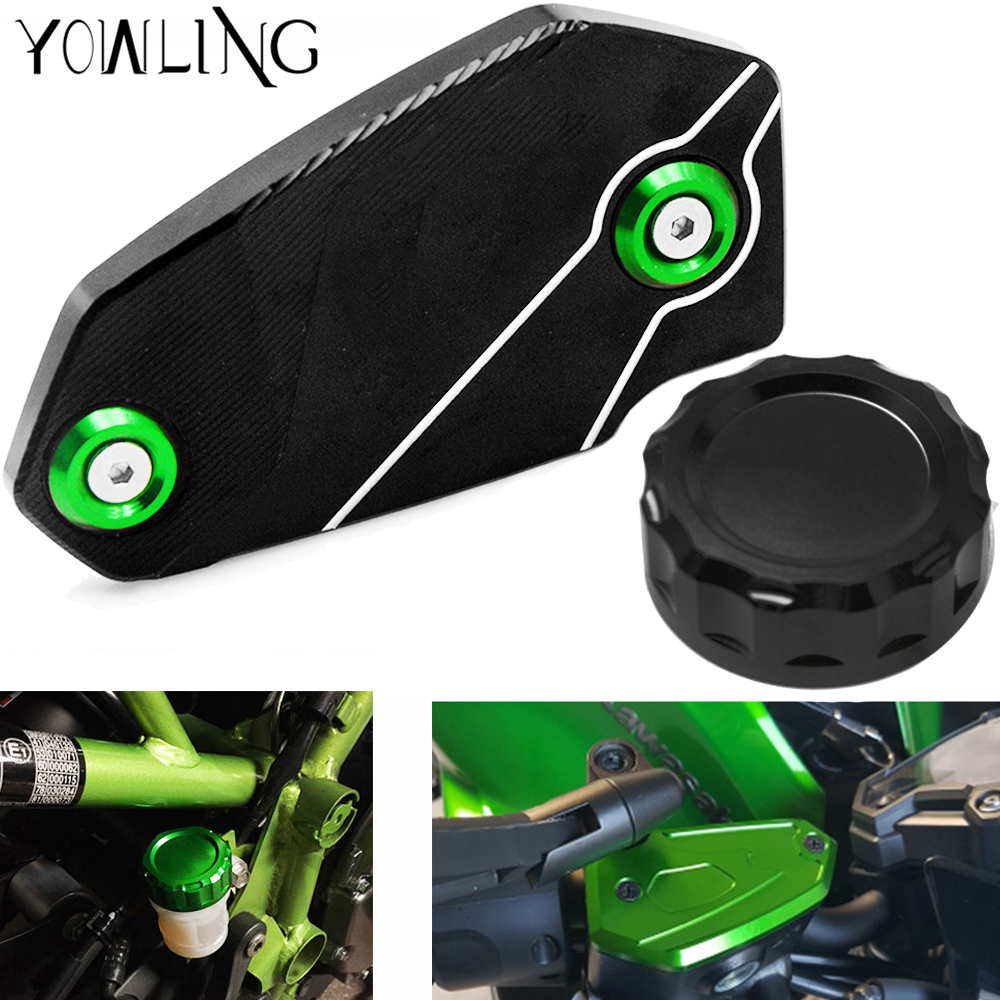 Motorcycle Accessories Cylinder Rear Fuel Brake Fluid Reservoir Cover Tank Cap FOR KAWASAKI NINJA 650 650R NINJA650 2006 2018 in Covers Ornamental Mouldings from Automobiles Motorcycles