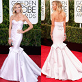 HarveyBridal Giuliana Rancic Red carpet Celebrity Dresses Mermaid Dirty Pink Prom Dresses Long 2015 72nd Golden Globe Awards
