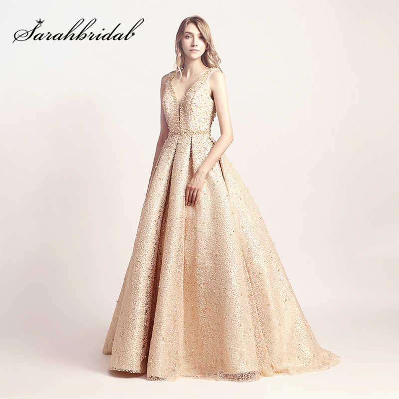b4bfa55609e Luxury vestidos debutante Gold Ball Gown Quinceanera Dresses 2019 Hot Sale  Pearls Sweet 16 Dress vestidos