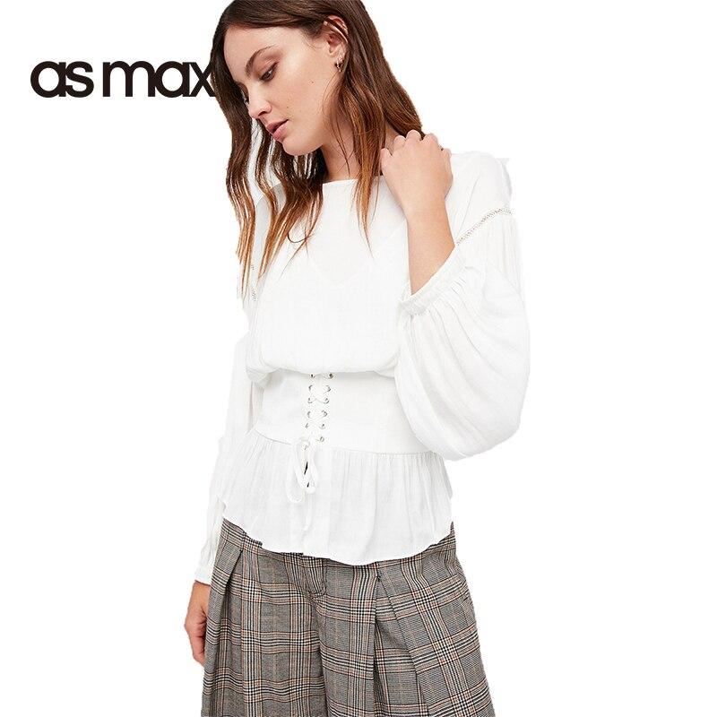 Il Più Popolare Corsetto Dettaglio Camicia Bianca Donna