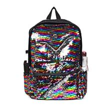 High Quality Glitter Mermaid School Bookbag Sequined Backpack for Girls and Boys Women Bags Teenage