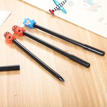 100 Pcs Cartoon Stationery Stereo Hero League Neutral Pen Cute Student Water Creative Office Supplies Signature Pen Kawaii