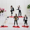 """4"""" MICHAEL JACKSON FIGURES dolls 5pcs/set  POSE Action figures Model"""