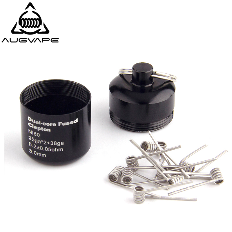 Augvape Ni80 Multi-core Staggered Fused Clapton Heating Coil Wire For Electronic Cigarette RDA RTA Atomizer Vape Prebuit Coil