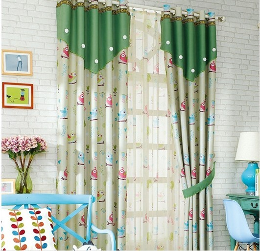 Owl Curtains For Living Room Bedroom Children Kids Baby Curtain Blackout Cartoon Hook Eyelet
