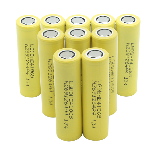 1/2/4/6/8/10 Pieces Rechargeable 3.7V Yellow Flat-top 18650 Batteries 3.7 V 2500mAh 18650 Lithium Li-ion Battery Replacement 5