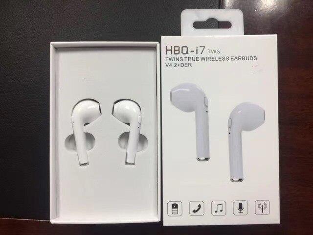 0f17978e9e0 New 2017 tws HBQ i7 TWS true Wireless Bluetooth V4.2 Earphone Binaural  Stereo Music Headset for iphone xiaomi Galaxy Samsung