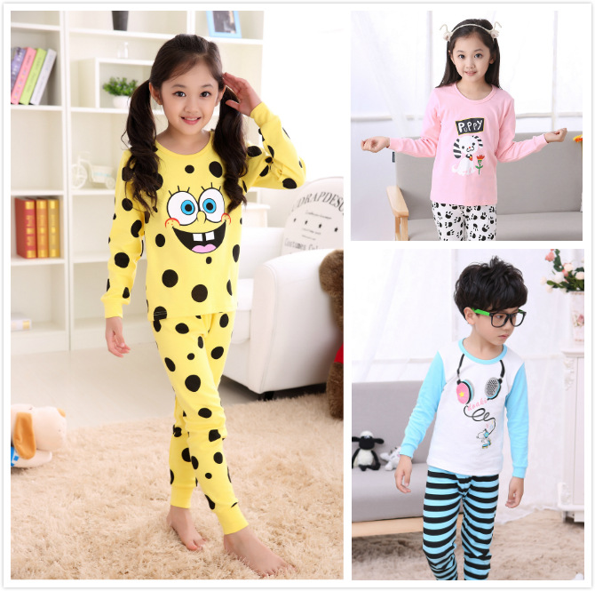 Online Shop V-TREE NEW children thermal underwear cartoon kids ...